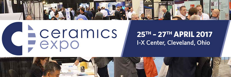 Ceramic Expo 2017 | 25th – 27th April 2017 at I-X Center, Cleveland, Ohio