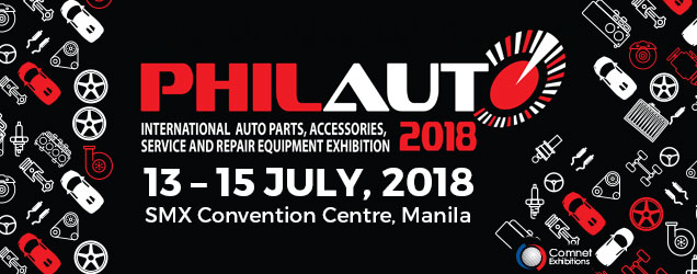 PhilAuto 2018 | 13 – 15 July, 2018 at SMX Convention Centre, Manila.